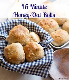 45 Minute Honey-Oat Rolls - i heart eating