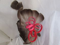 Rose, Creations, Ribbon, Couture, Band, Headdress, Feather, Tape, Pink