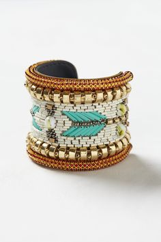Boho beaded cuff -- all about the #aztec feel!
