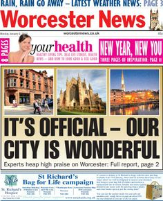 Worcester News goes for a positive front page
