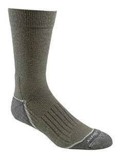 Fox River Outdoor Wick Dry AXT Trail Lightweight Merino Wool Crew Socks Medium Moss * Read more reviews of the product by visiting the link on the image. (This is an affiliate link) #CampingHikingClothes