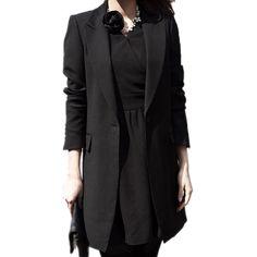 Autumn Long Women Blazers Jackets Office Lady Style Single Button Blazer Women Jacket Casual Long Sleeved Blazer Feminino Longo-in Blazers from Women's Clothing & Accessories on Aliexpress.com | Alibaba Group
