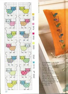 17 Ideas For Embroidery Cat Gatos Cat Cross Stitches, Cross Stitch Bookmarks, Cross Stitch Books, Cross Stitch Animals, Cross Stitching, Cross Stitch For Kids, Mini Cross Stitch, Beaded Cross Stitch, Cross Stitch Embroidery