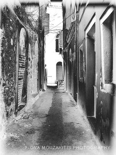 OLD STREET. Street view Corfu Town Corfu Greece Corfu Town, Corfu Greece, Old Street, Black And White Photography, Street View, Island, Black White Photography, Islands, Bw Photography