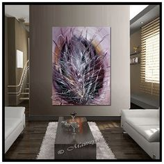 ORIGINAL ARTWORK Burgundy painting abstract art by largeartwork