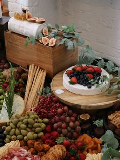 'Grazing Tables' Are the New Passed Appetizers (and We Are Here for It) Cheese Table, Cheese Platters, Wedding Table, Wedding Decor, Diy Wedding, Wedding Reception, Reception Food, Wedding Ideas, Wedding Trends