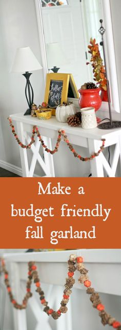 With a few basic supplies, you can easily whip up a fall garland. It's simple to make, and this pretty seasonal decor that won't break the bank!