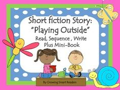Reading Comprehension: Story & Activities: You may want to give your students a short story to practice reading, and ordering events. This is just the right length to make a lesson, with a book-making activity to help reinforce skills. This works very well in a literacy center...for independent or small group work.