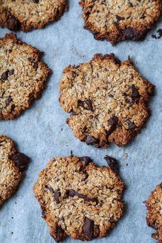 sunde cookies Healthy Muffins, Healthy Cookies, Healthy Desserts, Love Food, A Food, Food And Drink, Low Carb Köstlichkeiten, Danish Food, Vegan Cake