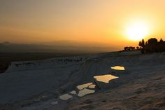 Almost Like Another Planet... Pamukkale Sunset