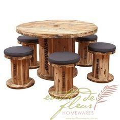 Idees Deco Bobine De Recup Picnic Tables Pinterest Furniture
