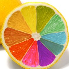 rainbow food | artistic food creative desserts Rainbow Colored Lemon thumb Are you in ...
