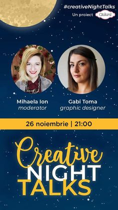 Creative Night Talks Events, Graphic Design, Night, Creative, Movie Posters, Journals, Film Poster, Billboard, Visual Communication