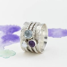 Are you interested in our Precious Stone Spinning Ring? With our Gemstone Silver Spinner Ring you need look no further.