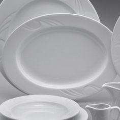 Platou oval de portelan din colectia Karizma. Are diametrul de 240 de mm. Vase, Plates, Tableware, Kitchen, Licence Plates, Dishes, Dinnerware, Cooking, Plate