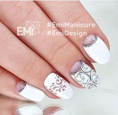 @pelikh_EMI manicure white lacey baroque naildesign