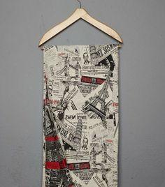 Ριχτάρι Κάλυμμα για Καναπέ Ζακάρ Town Newspaper - Ριχτάρια | Pennie®