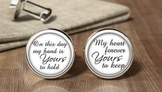Groom Cufflink, Custom Wedding Cufflink, From This Day Forward ...