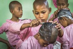 Our #NGTUK photography competition shortlist is announced this week, and here's Peter Brisley's entry, one of four into the Portfolio category. Taken in #Myanmar, his shots detail orphan girls who take part in the weekly ritual of shaving their heads, surprisingly against a backdrop of fun, laughter and upbeat atmosphere. Until the age of 18 they will live life in a nunnery to protect them from trafficking, slavery, or worse #travelphotography #instatravel #travelgram