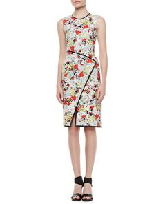 Fitted Floral Dress with Envelope Wrap Skirt by Erdem at Neiman Marcus.  Look for a pattern.