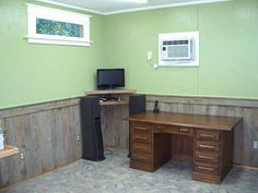 Wainscoting Made From Old Cedar Fence Boards.