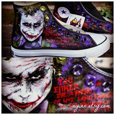 7f66612e9734 The Joker Converse. This is so cool!