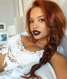 """Decided to finally get off my arse and fix my broken phone. Also decided that """"arse"""" is a great word Big Hair Curls, Thick Hair, Beautiful Red Hair, Andreas, Hair Affair, Great Hair, Black Women Hairstyles, Curled Hairstyles, Hair Dos"""