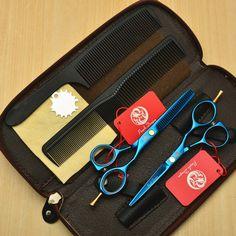 4Pcs Set 5.5'' 16cm Purple Dragon Blue 440C Professional Human Hair Scissors Hairdressing Cutting Shears Thinning Scissors Z1014 //Price: $US $16.38 & FREE Shipping //   http://humanhairemporium.com/products/4pcs-set-5-5-16cm-purple-dragon-blue-440c-professional-human-hair-scissors-hairdressing-cutting-shears-thinning-scissors-z1014/  #cheap_wigs