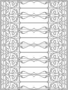 Welcome to Dover Publications + Creative Haven Art Nouveau Patterns Coloring… Dover Coloring Pages, Coloring Sheets, Coloring Books, Art Nouveau Pattern, Dover Publications, Printable Adult Coloring Pages, Doodle Coloring, Stencil Patterns, Elements Of Design
