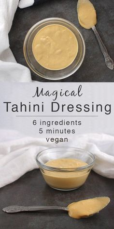 Keep a batch of Magical Tahini Dressing handy for dipping or drizzling. I have… Keep a batch of Magical Tahini Dressing handy for dipping or drizzling. I have not found a food yet that it doesn't go well on. Maybe not cupcakes. Vegan Sauces, Vegan Foods, Vegan Dishes, Keto Sauces, Healthy Sauces, Vegan Tahini Dressing, Tahini Dip, Tahini Uses, Vegetarian Recipes