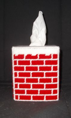Christmas Chimney Tissue Box Cover by TissueMart on Etsy, $18.00