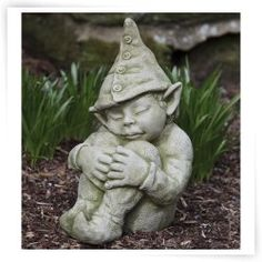 Campania International Galen The Elf Cast Stone Garden Statue