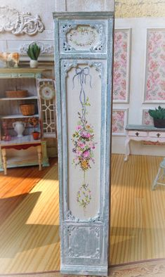 French Blue Wall Panel by MaritzaMiniatures on Etsy, $105.00