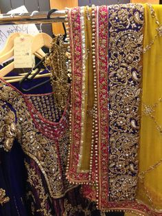 detailed work at Pakistan Fashion Week in London Shadi Dresses, Pakistani Formal Dresses, Pakistani Dress Design, Indian Dresses, Pakistani Mehndi, Mehendi, Pakistani Fashion Party Wear, Pakistani Wedding Outfits, Pakistani Wedding Dresses