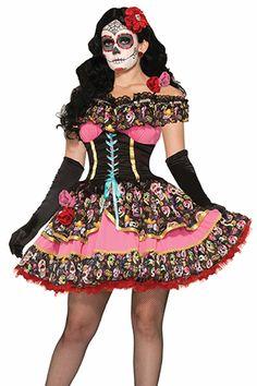 Halloween Face Mask, Halloween Costumes, Halloween Stuff, Day Of Death, Sugar Skull Costume, Catrina Costume, Cute Faces, Fashion Face Mask, Day Of The Dead