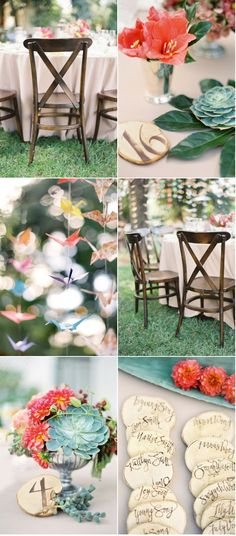 The chairs are fantastic. Beautiful wedding, photos by Jose Villa