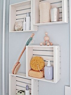 Efficient bathroom storage ideas for small spaces : Wall Shelves Bathroom Storage Ideas For Small Spaces
