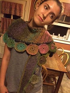 Esther Sandrof made this beautiful unique shawl in our Amazing yarn. Check out the pattern on Ravelry.
