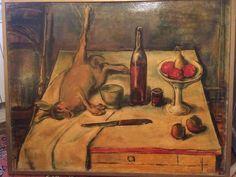 François Faucher 1906-1985 Nature morte aux fruits et fusil