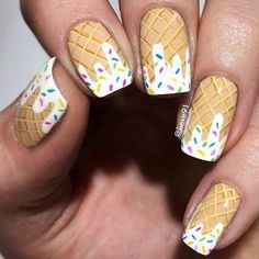 Give style to your nails using nail art designs. Used by fashion-forward stars, these nail designs can incorporate instant charm to your apparel. Cute Nail Art, Cute Nails, Trendy Nail Art, Food Nail Art, Nail Base Coat, Ice Cream Nails, Nails For Kids, Diy Nail Designs, Nail Designs For Kids
