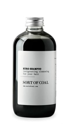 Activated charcoal is grooming's dirtiest little secret; Kuro Shampoo, $36, SORT OF COAL.