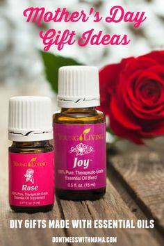 10 Mother's Day Gift Ideas with Essential Oils - Give mom a gift she'll love that's from the heart and made with essential oils - DontMesswithMamam.com