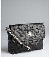 black quilted leather chain strap shoulder bag by Marc Jacobs