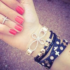 I'm loving the bracelets and the ring!