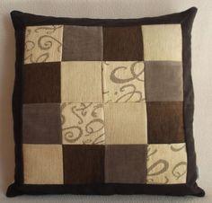 """Cuscino decorativo patchwork 55x55 cm (22""""x22""""), PEZZO UNICO velluto e tela tappezzeria. Con zip nascosta. -Pillow patchwork 22""""x22"""" unique. di RITALYstyle su Etsy"""