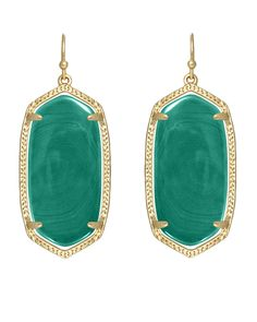 KENDRA SCOTT Elle Earrings Green Onyx $45 (Compare at $52 elsewhere) ANNE'S at THE TRUMP BUILDING NYC annesofnewyork.com