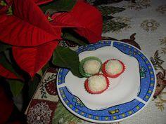 Sabines und Anjas Hobbyeck: Kokoskugeln Kugel, Watermelon, Fruit, Cake, Desserts, Food, White Chocolate, Hobbies, Weihnachten