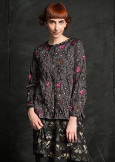 """""""Midvinter"""" blouse in eco-cotton – Copenhagen – GUDRUN SJÖDÉN – Webshop, mail order and boutiques 