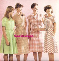 Dámske odevy predávané v ČSSR v rokoch 1980- 83      Tento článok je zameraný na dámskeodevy,ktr. sa v 80 rokoch reálne vyrábali v čs... Vintage Fashion, Summer Dresses, Retro, 1980s, Store, Fashion Vintage, Sundresses, Storage, Rustic
