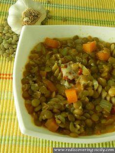 Minestra di Lenticchie - Sicilian Lentil Soup